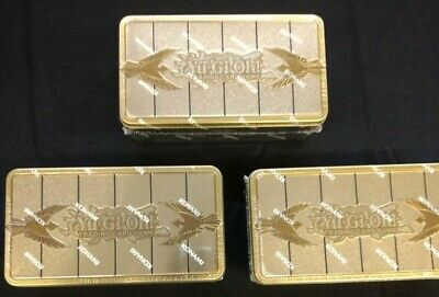 3 x Yugioh TCG 2019 Gold Sarcophagus Tins (3 TINS) FACTORY SEALED & IN HAND!!