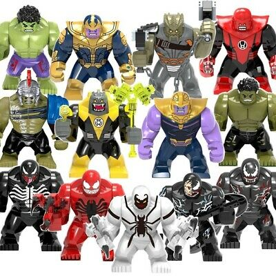 Avengers End Game Thanos SuperHero Hulk Big Minifigure Building Blocks Toy LEGO