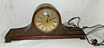 Vintage Hammond Bichronous B-2 Antique Mantle Clock - Parts or Repair - USA Made