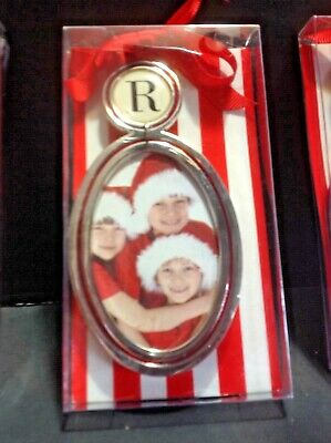 New personalized Initial R Frame Ornament By Mud Pie For Christmas Tree or Table
