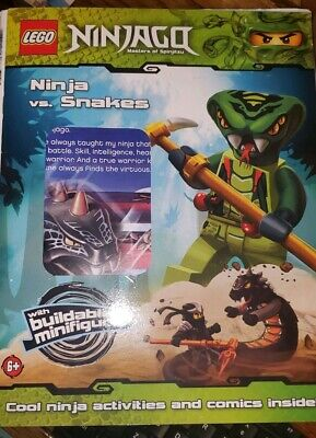 LEGO NINJAGO ACTIVITY & Comic Book With Mini Figure Warrior