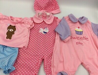 """Lot Of 15"""" Baby Doll Clothes Outfits Fits AG Bitty Baby And Larger Baby Alive 5"""