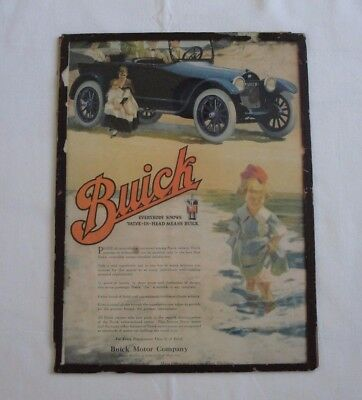 Buick Motor Company ad from August 1917 Ladies Home Journal Cover with Glass