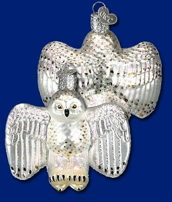 Old World Christmas SNOW OWL Handblown Handpainted Glass Ornament OWC
