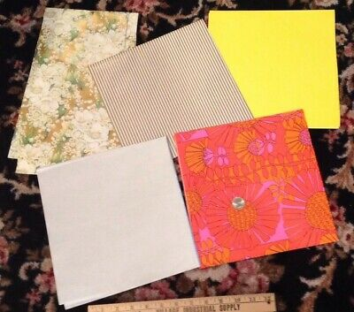 Vintage Decorative Gift Wrapping Paper 5 Full Sheets L@@K