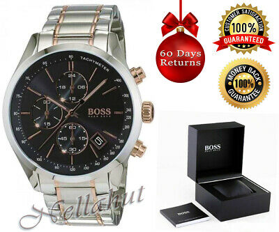 New Mens Hugo Boss 1513473 Grand Prix Two Tone Chronograph Watch