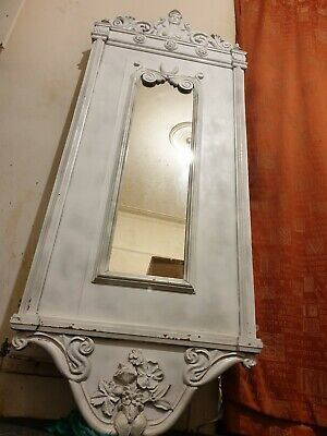 Genuine!! Huge Original Antique French Solid Oak Carved Chateau Mirror c1900