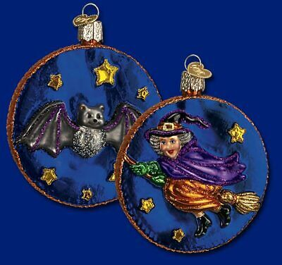 Old World Christmas HALLOWEEN Witch Moon GLASS Ornament