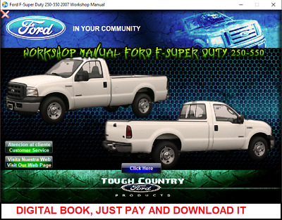 FACTORY REPAIR SERVICE Manual For Ford Super Duty F 250 F