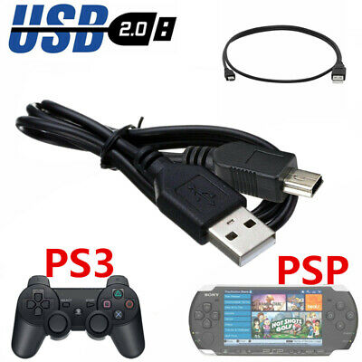 1M PS3 Play+Charging Charger USB Cables For PlayStation 3 Controller GamePad PSP