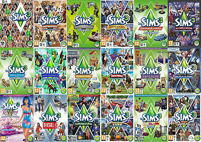 The Sims 3 Expansions ORIGIN DOWNLOAD KEY GLOBAL