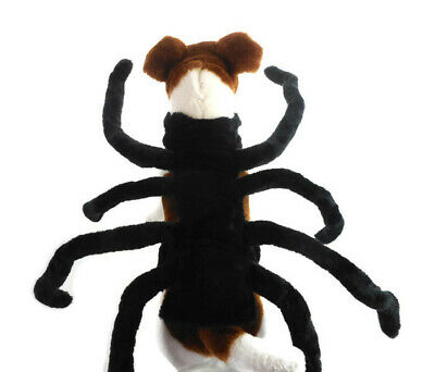 Dog Spider Costume Black Pet Outfit Dress-up Sz Small