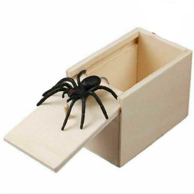 Funny Prank Spider Wooden Scare Box Joke Gag Toy Hidden in Case Trick Toys Gift