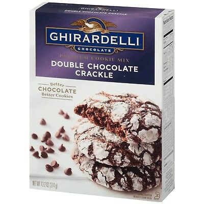 ghirardelli chocolate double chocolate crackle 13.2 oz
