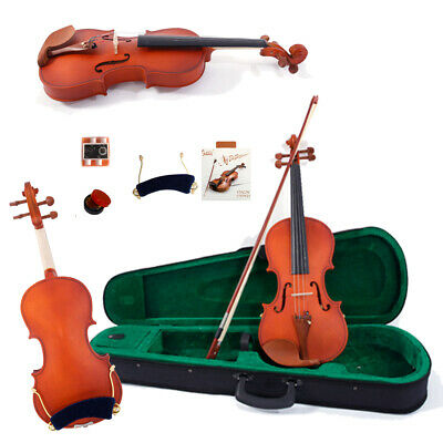 Glarry 3/4 Matte Maple Wood Acoustic Violin Fiddle +Case+Bow+Rosin+String+Tuner