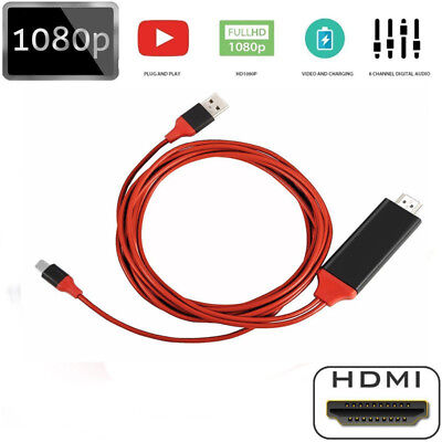 Lightning To HDMI Cable HDTV Digital Adapter 1080P For iPad iPhone XS/XR 8 7 6