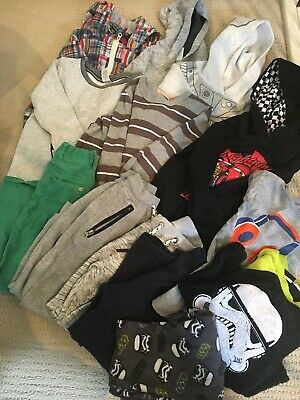 Bulk Boys Clothes/ Size 5 Years Old /Winter/ Tops/ Joggers/ Pajama/ Used