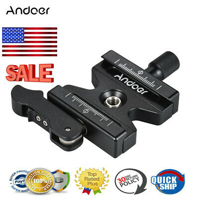 Andoer CL-50LS Clamp+Quick Release QR Plate Knob Type for Arca Swiss Tripod DSLR