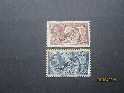 Gb Stamps - Kgv - Sg450 & Sg452 - Seahorse Pair - Fine Used