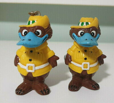 Expo 88 Platypus Mascot Expo Oz Keychain And Figurine!