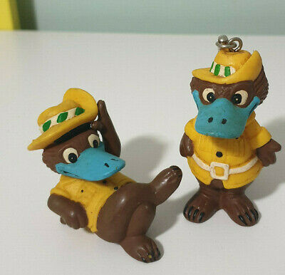 Expo 88 Platypus Mascot Expo Oz Keychain And  Lying Down Figurine!