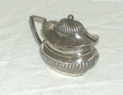Antique English Silver Plated Epns Novelty Miniature Teapot Shaped Salt  Pot
