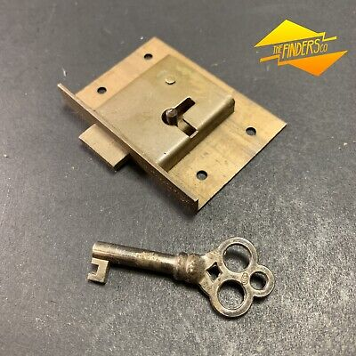 Vintage Jacksons Brass Cabinet Cupboard Lock Working With Key #3