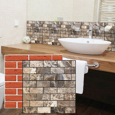Bedroom Wall Sticker Kitchen Bathroom Decoration Irregular 3D Mural Tile