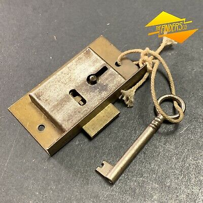 Vintage Legge Made In England Cupboard Drawer Lock Working With Key #11