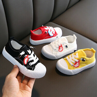 Kids Boys Girls Lace Up Sneakers Sport Shoes Casual Flats Running Shoes Trainers