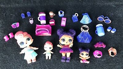 LOL Surprise Doll Set PURPLE QUEEN & STARDUST Big & Lil Sisters Ultra RARE