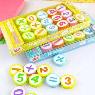 15 Pcs/Set Pencil Erasers Rubber School Art Drawing School Stationery FI