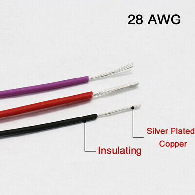 PTFE Silver Plated Copper Cable 2.5//4//6//10mm² Flexible Stranded Wire For Family