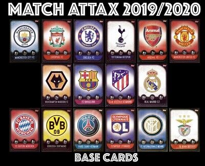 Match Attax 2019/20 19/20 Topps Base Cards 19/20 Buy 4 Get 10 Free