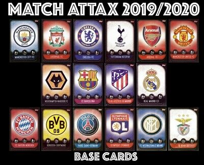 Match Attax 2019/20 19/20 Topps Base Cards 2019 2020