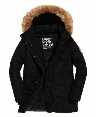 SUPERDRY ASHLEY EVEREST Parka Damen Winterjacke black EUR