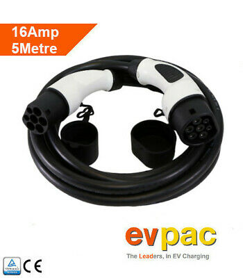 Renault Compatible EV Charging Cable Cable Type 2 (62196-2) 16Amp 5metres