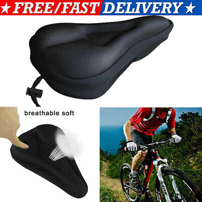 VINTAGE SOFT SILICONE ROAD BIKE BICYCLE SADDLE HOLLOW CYCLING SEAT CUSHION S3C9