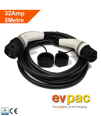 EV Charging Cable Type 2 (62196-2) 32amp 5metres