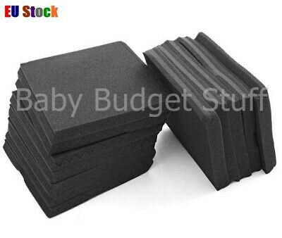 """12""""x12""""x1"""" Acoustic Wedge Studio Soundproofing Foam Wall Tiles Sound Insulation"""