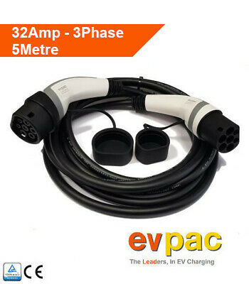 EV Charging Cable Type 2 (62196-2) 3Phase 32amp 5metres