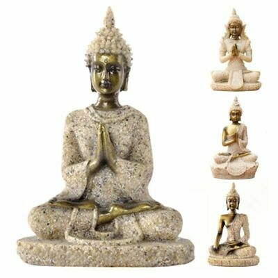 Buddha Statue Figurine Sculpture Decor Feng Shui Meditating Sitting Home Thai