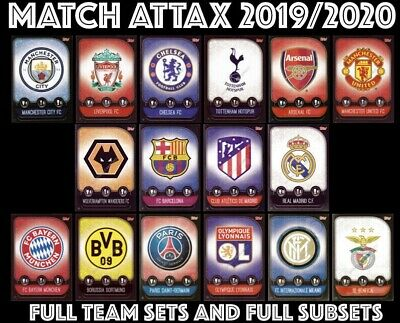 Match Attax 2019/20 19/20 Full Team Sets Full Subsets