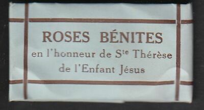 Blessed roses St Therese of Lisieux antique french relic reliquary