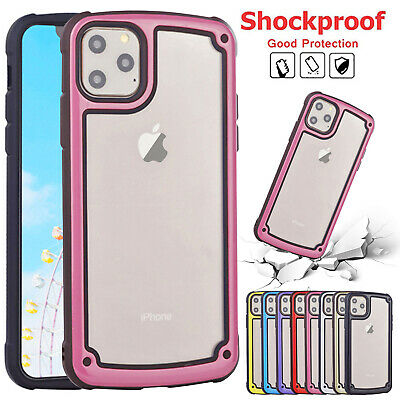 For iPhone 11 Pro Max 11Pro Shockproof Hybrid Armor Clear Slim Rubber Case Cover