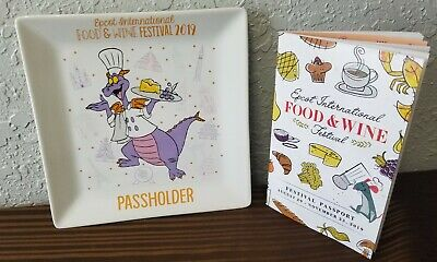Figment Passholder Exclusive Plate Disney Parks 2019 Epcot Food & Wine Festival