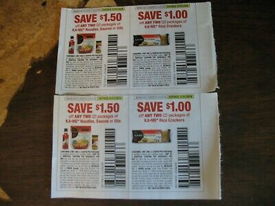 (4 coupons total) Ka-Me Noodles, Sauces, or Oils EXP 12/31/2019