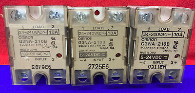Qty 3 - Omron G3Na-210B Solid State Relays