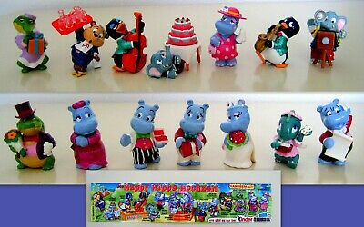 KINDER  1999 GERMANIA - SET COMPLETO HAPPY HIPPO HOCHZEIT (sposi) + 1 CARTINA