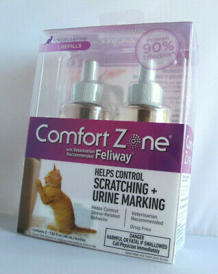 Comfort Zone Feliway Double Refill Pack - Helps Control Scatching/Urine Marking